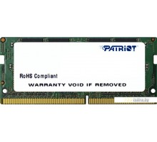 Оперативная память Patriot Signature Line 8GB DDR4 SODIMM PC4-19200 [PSD48G240081S]