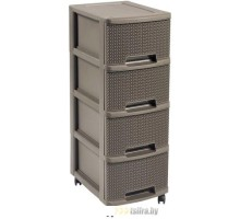Комод Keter Drawer 4X10L Knit -STD (коричневый)