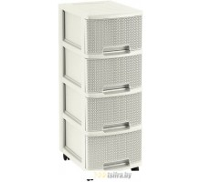 Комод Keter Drawer 4X10L Knit -STD (белый)