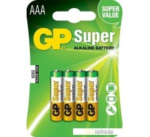 Батарейки GP Super Alkaline AAA 4 шт.